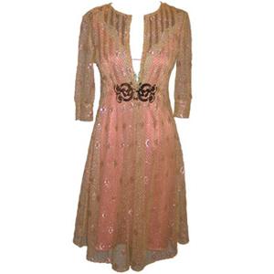 Cynthia Rowley Metallic Lace Dress