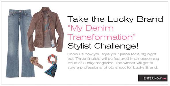 Lucky Magazine Denim Transformation Challenge