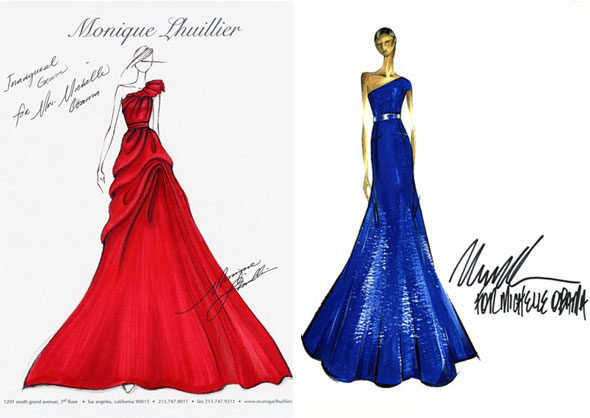 dress designs sketches. Michelle Obama sketches: