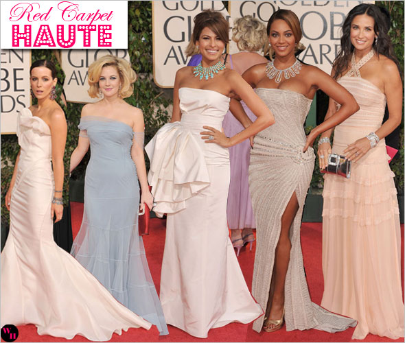 66th Annual Golden Globes Red Carpet Beyonce Demi Moore Kate Beckinsale Eva Mendes Drew Barrymore