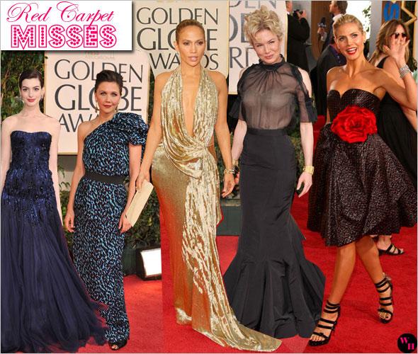 66th Annual Golden Globes Red Carpet Anne Hathaway Heidi Klum Renee Zellweger Jennifer Lopez Maggie Gyllenhaal