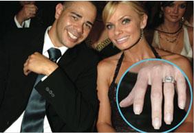 jaime pressly platinum diamond engagement ring