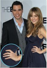 Jessica Alba Platinum diamond engagement Ring