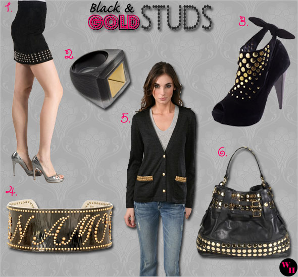 What's Haute Trend: Black with Gold Studs