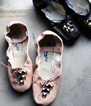Prima-Punk Ballerina Style: Capezio Studded Ballet Slippers