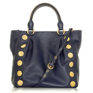 In the Navy: Miu Miu's Studded Shoulder Bag