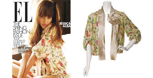 jessica-alba-elle-magazine 2009 Diane von Furstenburg Garden Zaria Jacket