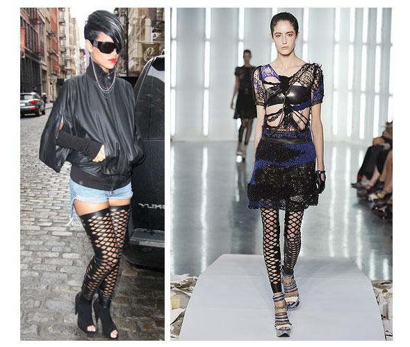 Say it Three Times Fast: Rihanna Rocks the Rodarte Diamond Cutout Leggings