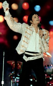 michael jackson on stage in concert