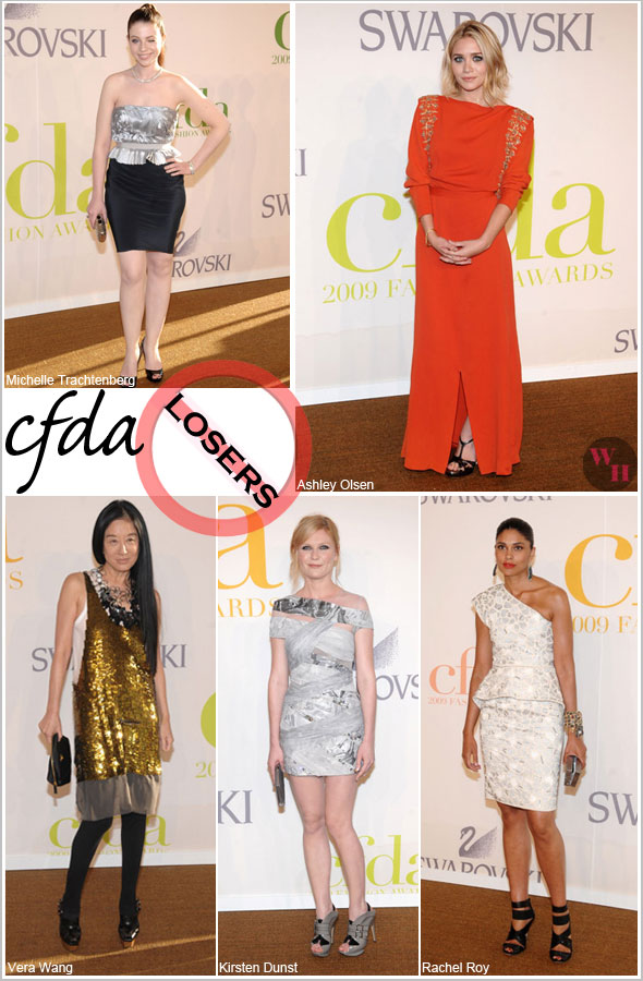 CFDA Council of Fashion Designers of America awards Michelle Trachtenberg in Behnaz Sarafpour Ashley Olsen in vintage orange dress Vera Wang Rachel Roy Kirsten Dunst in Rodarte