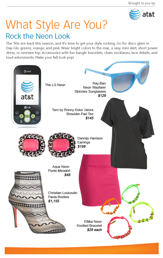 AT&T What Style Are You - Rock the Neon Look