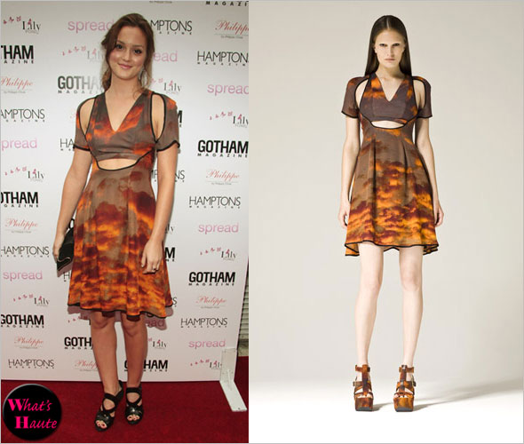 Haute or Not - Leighton Meester in Christopher Kane mushroom cloud