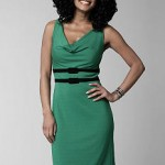 Kristin Davis collection belk drape neck ponte dress