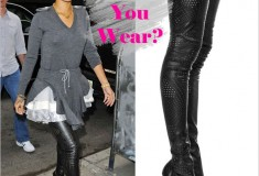 Would you wear: Stella McCartney perforated thigh-high boots