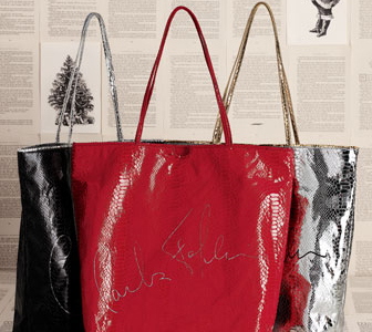 Carlos Falchi and Neiman Marcus limited-edition holiday totes