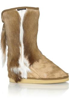 Mou Antelope Cowboy springbok sheepskin boots