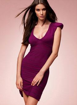 Victoria's Secret silk bandage sweaterdress in Berrylicious