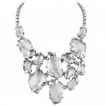 Kenneth Jay Lane Fancy Crystal Bib Necklace