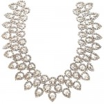 Kenneth Jay Lane Three Row Teardrop Bib Necklace