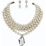 Miriam Haskell Pearl Choker & Earring Set
