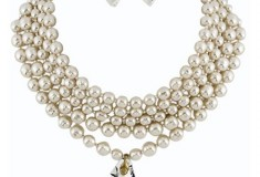 Bridal bauble  the bib necklace