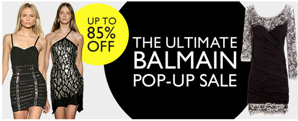 balmain pop-up sale