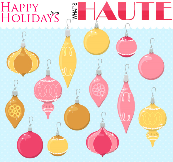 Happy Holiday's e-card from What's Haute Magazine