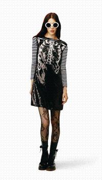 Rodarte for Target sequin ribcage dress
