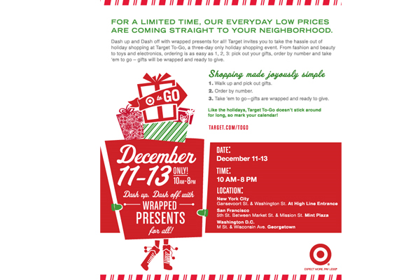 Target To-Go three-day pop-up shop