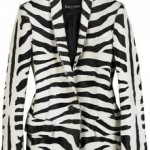 Balmain zebra-print-calfskin-blazer