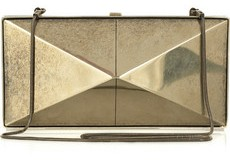Donna Karan element silver-tone clutch