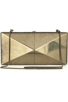 Donna Karan Element silver-tone clutch