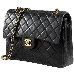 Chanel Classic 2 55 Caviar Leather Flap Bag
