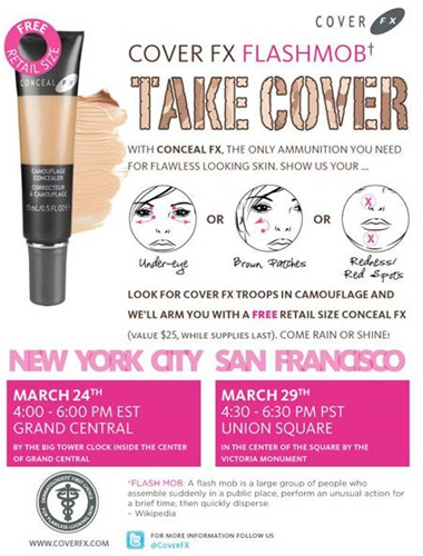 Join the Cover FX Flash Mob and get a FREE concealer!