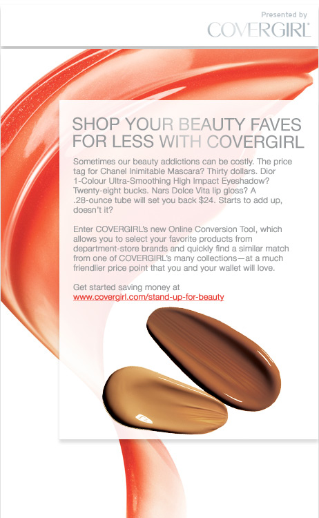 Shop your beauty faves for less with Covergirl