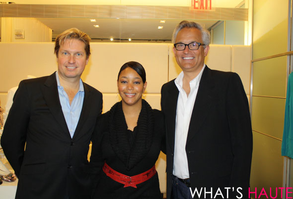 Me pictured with James Mischka and Mark Badgley of Badgley Mischka