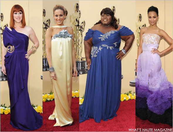 Academy Awards 2010 - red carpet fashion best and worst Molly Ringwald Todd Thomas Sarah Jessica Parker Chanel 2010 Spring Summer Haute Couture Gabourey Sidibe Marchesa Zoe Saldana dazzled in a Givenchy Haute Couture by Riccardo Tisci