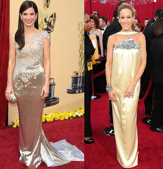 neutral gowns 82nd annual Academy Awards oscar red carpet