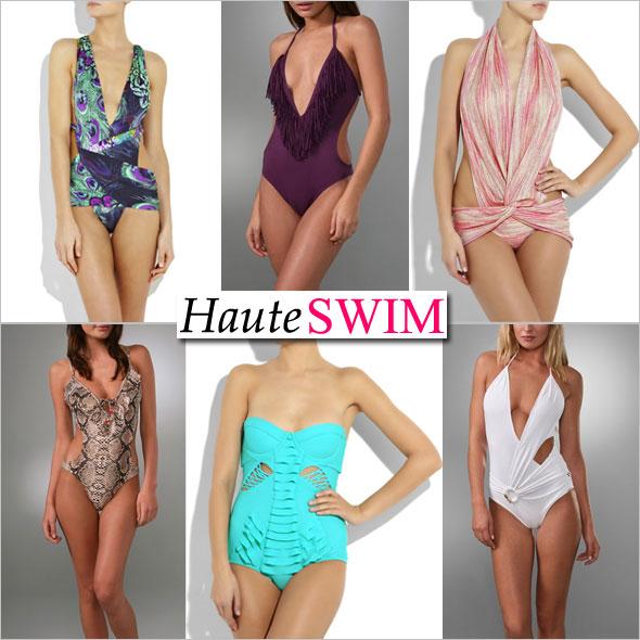 Haute summer swimwear Shopping guide Look haute in sexy one-piece swimsuits la perla vix l*space missoni rosa cha zimmerman