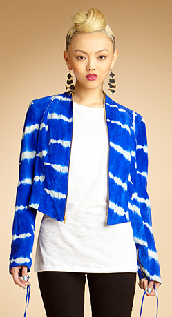 Haute find: RACHEL Rachel Roy Stitched Up Tie Dye Suede Jacket