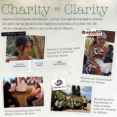 Rachel Roy helps you 'pay it forward' with a $1,000 grant for social change Charity = Clarity