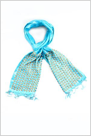 Enter to win the Raj Solid Lurex Studded Scarf in sky blue in What's Haute Magazine's 5 days of giveaways