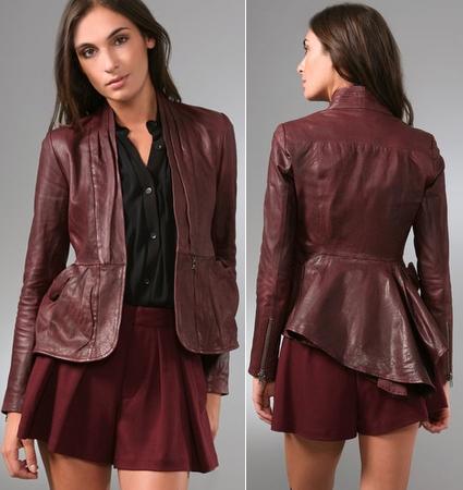 Nanette Lepore Hush Hush Leather Jacket
