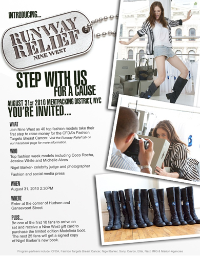 Join Nine West and Nigel Barker for Runway Relief