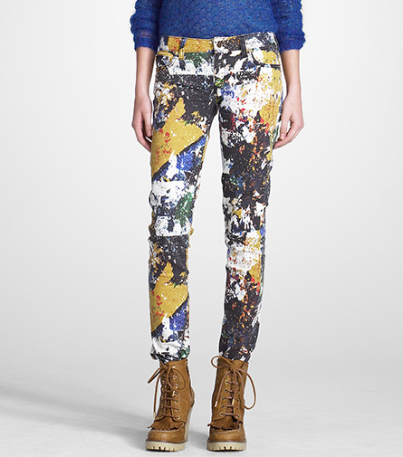 80's Redux: Tory Burch's Super Skinny Printed Stretch Jean