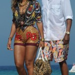 Beyonce - ikat, kente and leopard-printed up with Roberto Cavalli in St. Tropez