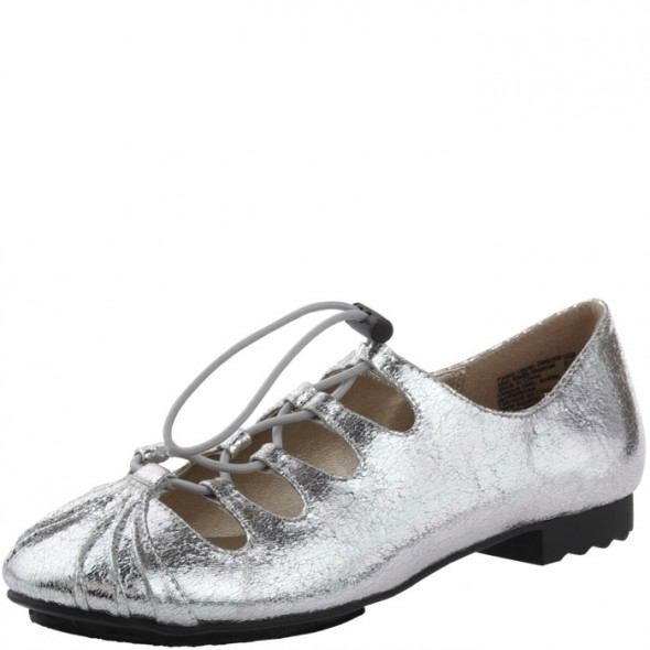 Isabel Toledo for Payless metallic ghillie flat