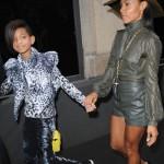 Jada Pinkett and Willow Smith take in Milan fashion week Dolce & Gabbana ad Ferragamo