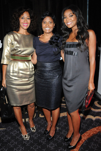 tracee ellis ross angela burt-murray gabrielle union Hermes and McQueen at the Essence 40 Fierce and Fab Under 40 awards luncheon