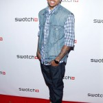 chris-brown-red-carpet Swatch New Gents Collection launch party